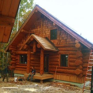 Handcrafted log home