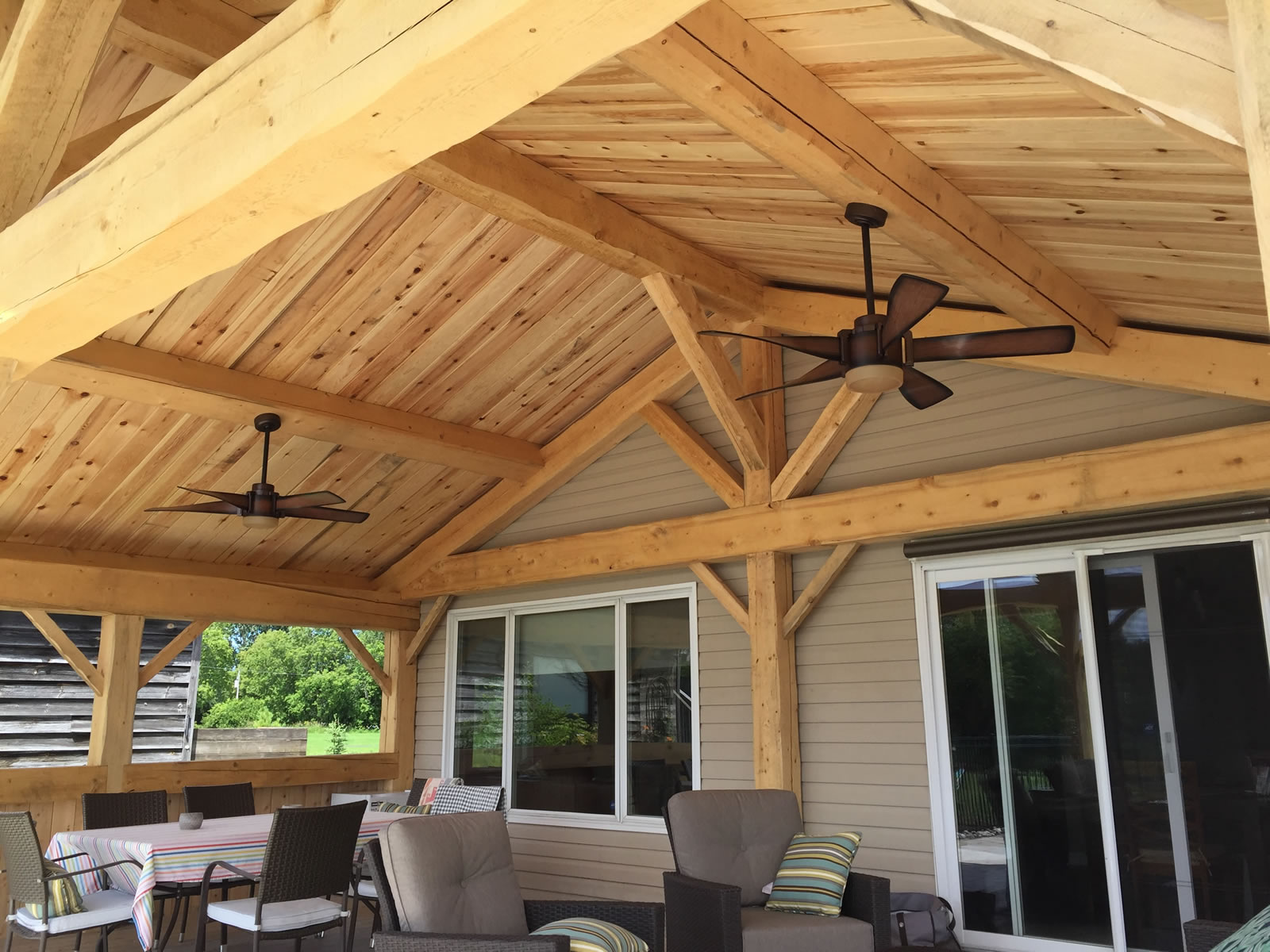 Ottawa timberframe structure for outdoor room