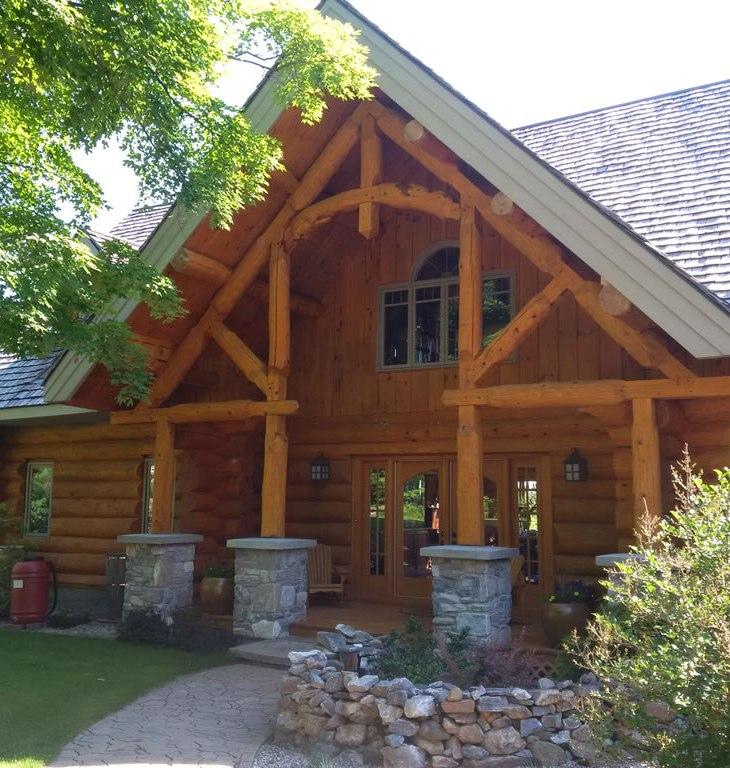 Beautiful log home restoration