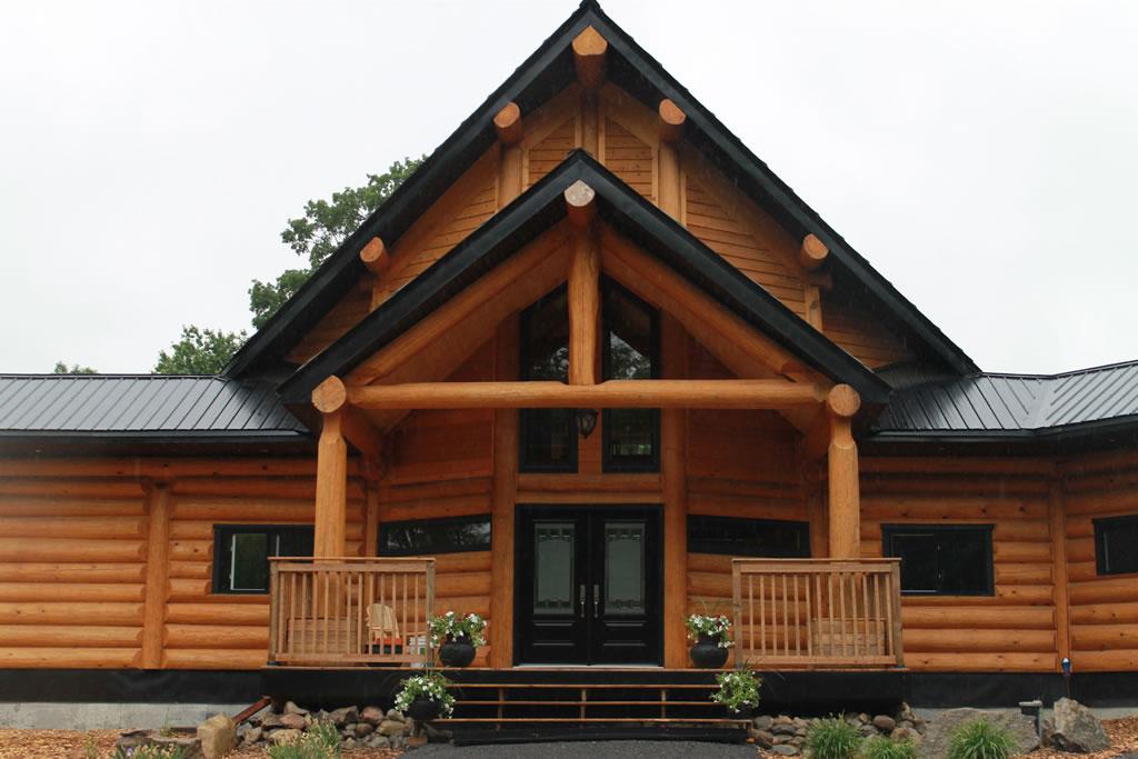 Round log home