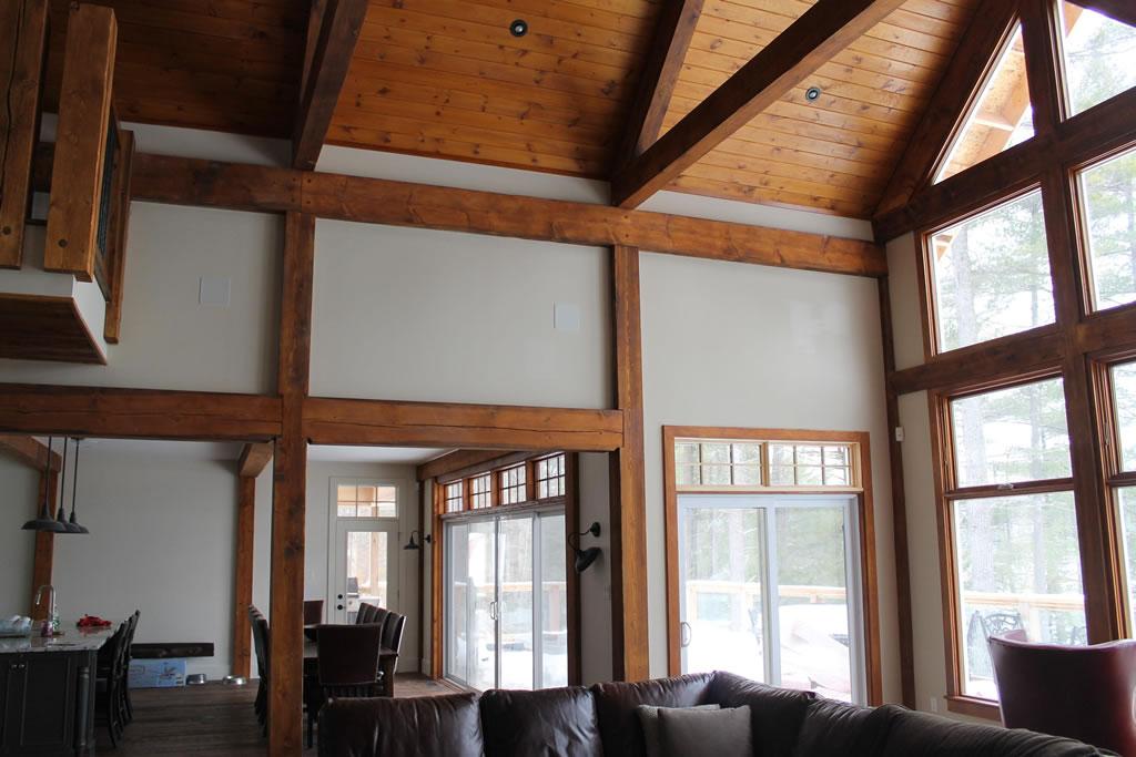 Timber framed home