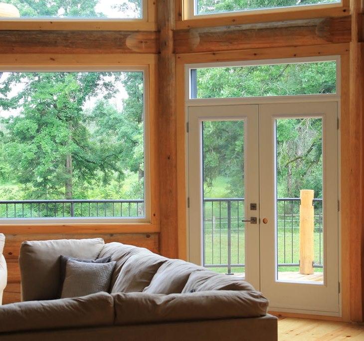 Comfortable log home interior