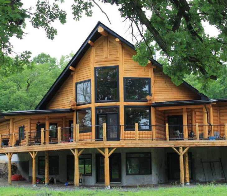 Ottawa log home crafted by Kealey Tackaberry