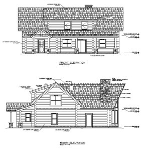 Deer Run log house plans