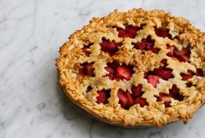 Strawberry Rhubarb Pie for Canada Day