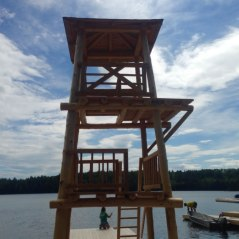 Lookout Tower & Diving Platform supplied to a boys & girls camp in Algonquin park