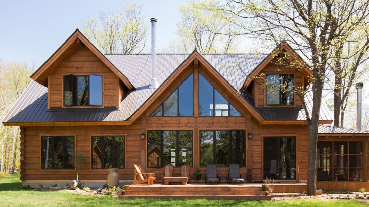 Ottawa Valley timber frame home - click for details