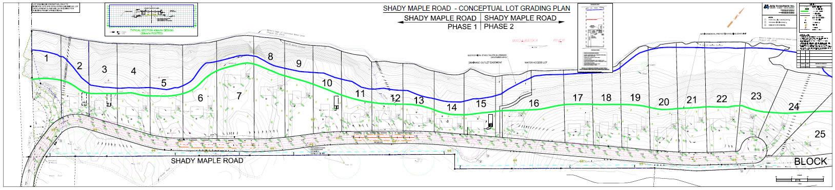 Waterfront lot division for the Braeburn Estates