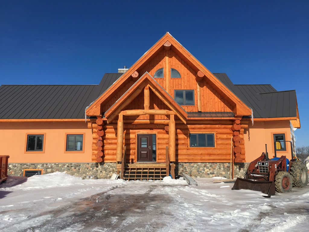 Log home builder South Ottawa
