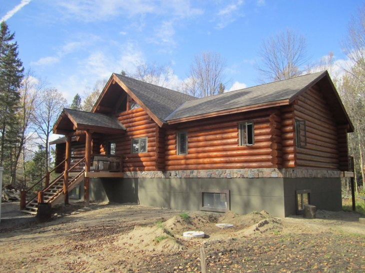Learn more about this net zero log home in rural Ottawa